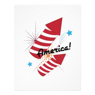 America Fireworks Letterhead Design
