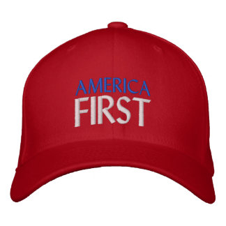 AMERICA FIRST EMBROIDERED BASEBALL HAT