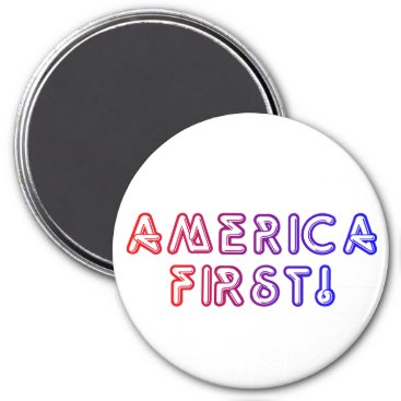 America First Large Round Magnet