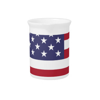 America flag all over design beverage pitchers