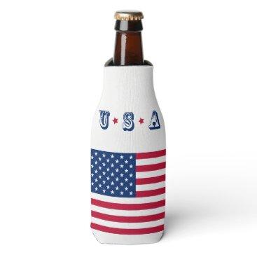 America flag American USA Bottle Cooler