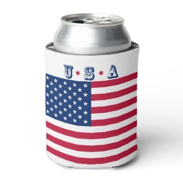 America flag American USA Can Cooler