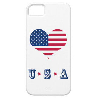 America flag American USA heart iPhone SE/5/5s Case
