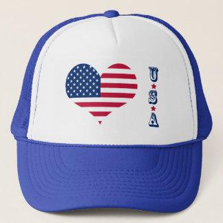 America flag American USA heart Trucker Hat