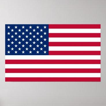 USA Themed America flag American USA Poster