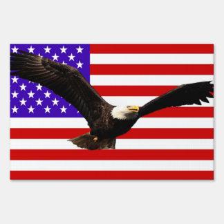 America flag Bald Eagle USA Lawn Sign