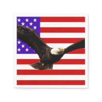 America flag Bald Eagle USA Paper Napkin