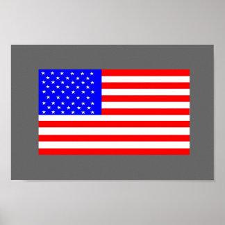 America Flag by:da'vy Poster