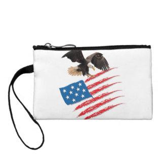America Flag Change Purse