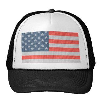 America Flag Diamonds And Glitter Texture Trucker Hats