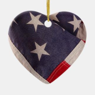 America flag heart ornament