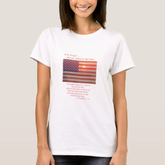 America Flag - If My People T-Shirt