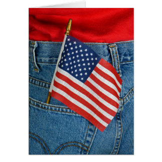 America flag in pocket card