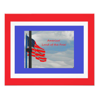America Flag Land of the Free Photograph