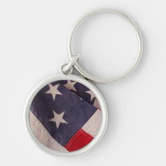 America flag premium round keychain