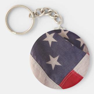 America flag round keychain