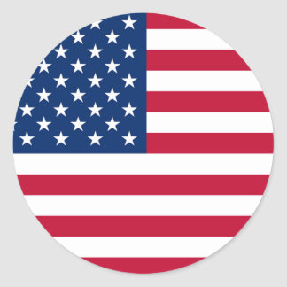 America Flag Round Stickers Round Stickers