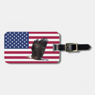 America Flag with Eagle Personalized Luggage Tag
