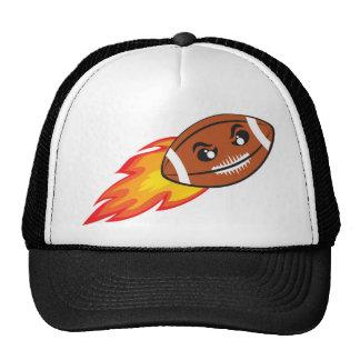 America football ball flying. trucker hat