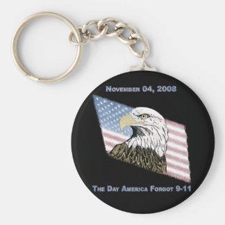 America Forgot 9-11 Keychain