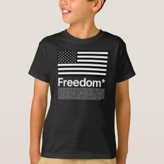 America: Freedom terms and conditions T-Shirt