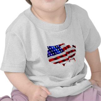 América fresca US USA bandera TRISTE juegos de Camisetas