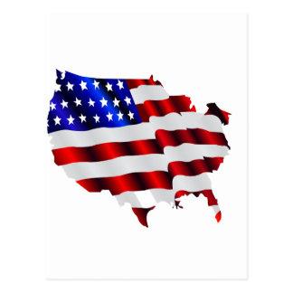 América fresca, US/USA, bandera TRISTE, juegos de  Postal