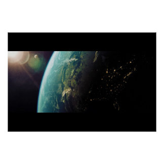 America From Space from Day to Night Print