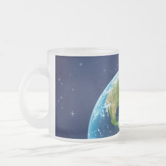 America Frosted Glass Mug