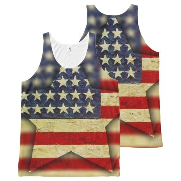 USA Themed America F'yah All-Over-Print Tank Top