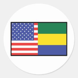 America Gabon Round Stickers