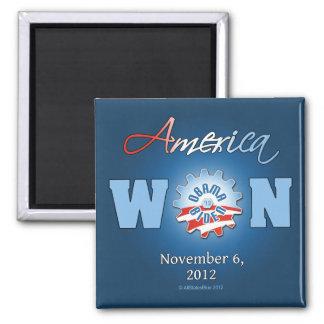 América ganó el 6 de noviembre de 2012 imán cuadrado