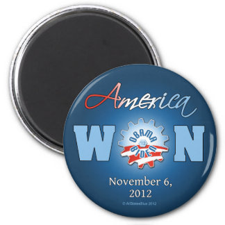 América ganó el 6 de noviembre de 2012 imán redondo 5 cm