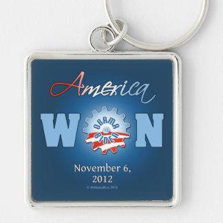 América ganó el 6 de noviembre de 2012 llavero cuadrado plateado