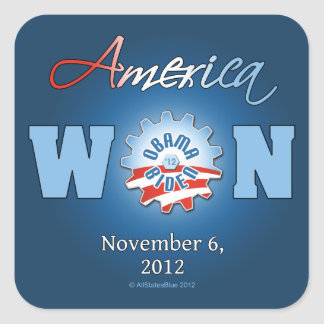 América ganó el 6 de noviembre de 2012 pegatina cuadrada