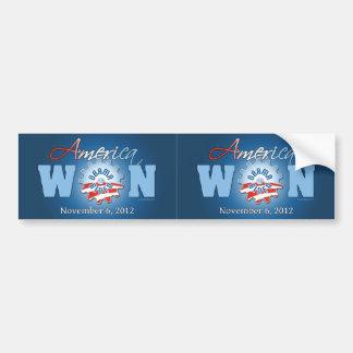 América ganó el 6 de noviembre de 2012 pegatina para auto