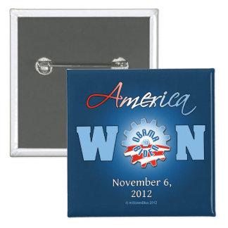 América ganó el 6 de noviembre de 2012 pin cuadrado