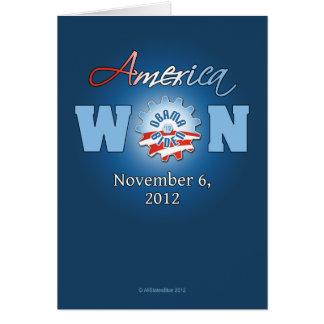 América ganó el 6 de noviembre de 2012 tarjeta de felicitación