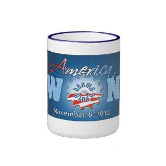 América ganó el 6 de noviembre de 2012 taza de dos colores