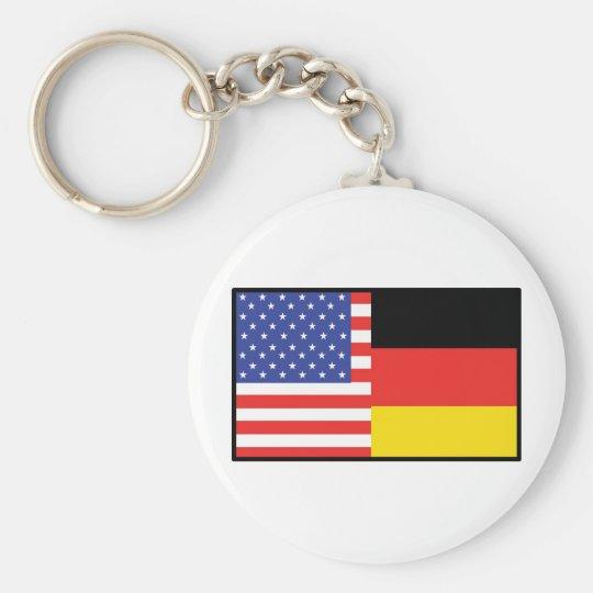 America Germany Keychain