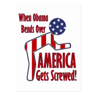 America Gets Screwed Post Card