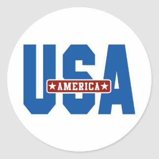 America Go USA Classic Round Sticker
