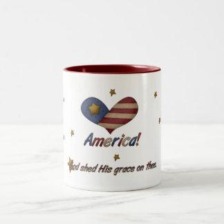 America God Shed His Grace Mug