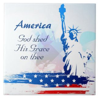 America-God Shed His Grace on Thee Ceramic Tile