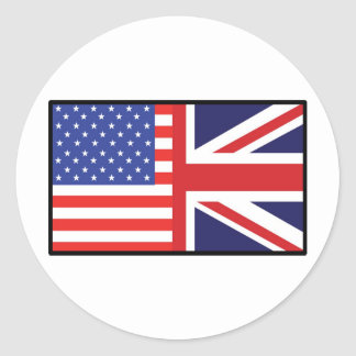 América Gran Bretaña Etiqueta Redonda