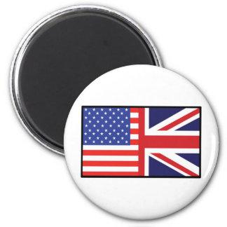 América Gran Bretaña Imán Redondo 5 Cm