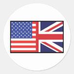 América Gran Bretaña Pegatina Redonda
