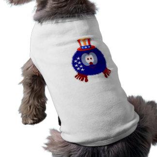 America Hat Pom Pom Pal Dog Tee