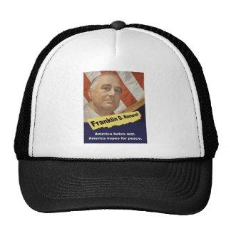 America Hates War - FDR Trucker Hat