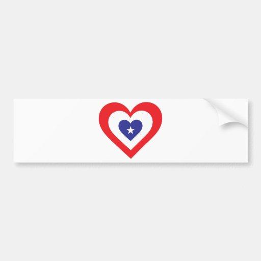America Heart Bumper Sticker